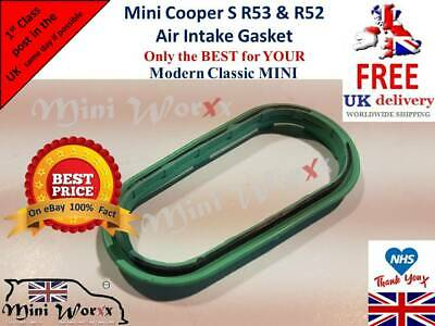 MINI Cooper S R53 REINZ Supercharger Air Intake Duct Green Rubber Gasket Seal