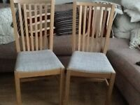 Chairs ( 2. ) Solid Pine almost New £45 Ono