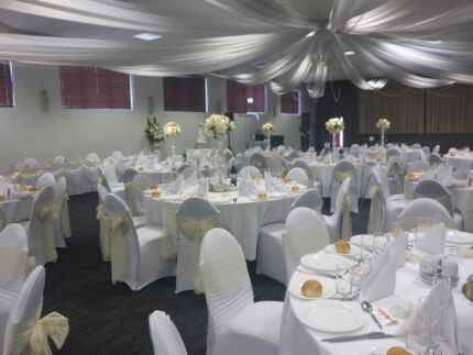 Black lycra chair cover hire 120 venues gumtree australia port chair covers with sash 2 junglespirit Image collections