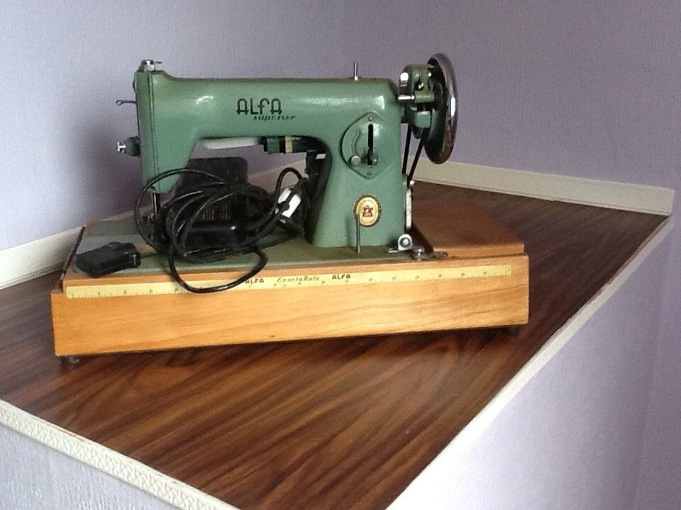 Alpha Electric Sewing Machine Approx 40 Years Old Original Still Delectable Alfa Model 50 Sewing Machine