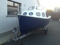 GRP FISHING BOAT WITH OUTBOARD AND TRAILER