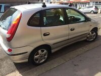 NISSAN ALMERA TINO VERY ECONOMICAL TO RUN CHEAP TO INSURE GOOD TYRE MOT 29/12/ 2017 START EVERY TIME