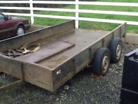 DONNELLY PLANT LOWLOADER TRAILER 11 by 6ft ALL STEEL ON SPRINGS 8PLY TYRES GOOD HITCH ETC £500