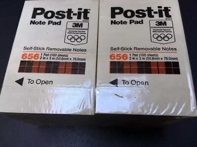 3m Post-it 656 Cream 51x76mm Super Sticky Memo Notes 12 Pad