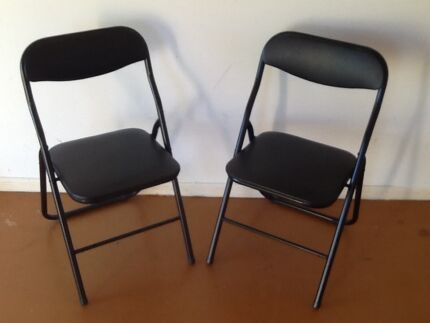 Folding Chair , i have two , black ,as new . Coombabah Gold Coast North Preview