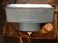 High Level Toilet Cistern 'J Parsons & Sons Ltd Hove' rare item, blue.