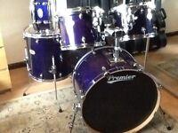 Premier artist birch drums .. British made