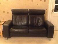 Ekornes Stressless 2 Seater Reclining Sofa with Adjustable Headrest
