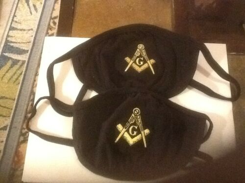, MASONIC FACE MASK EMBROIDERED. LOT OF 4 EACH