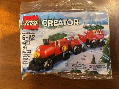 LEGO - CREATOR HOLIDAY TRAIN Christmas Legos #30543 66 pc. - Brand New