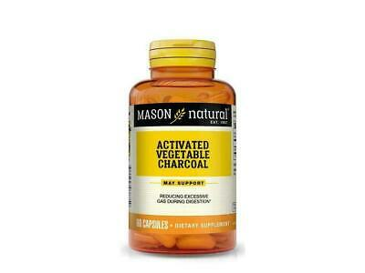 60 CAPSULES ACTIVATED VEGETABLE CHARCOAL DIGESTIVE HEALT  260mg/cap BODY DETOX  (260 Mg 60 Capsules)