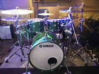 Yamaha Absolute Hybrid Maple drums - Green Sparkle