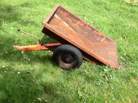 Ride on mower trailer, tipping, garden tractor, ATV, quad, heavy duty