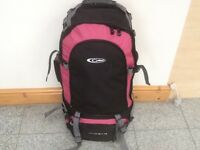 60 to 75 litre capacity rucksacks and travel backpacks-excellent condition& clean-from £40 to £55