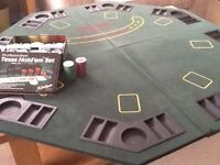 Professional Texas Hold'em Poker Set with table and extras