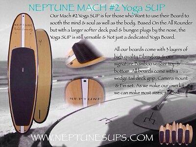 Yoga SUP Boards, Paddleboard, Adjustable Carbon Paddles, Bamboo, SUPs