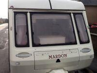 MARDON 4/5 BERTH CARAVAN WITH AWNING..