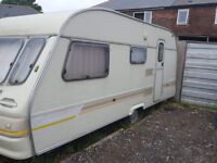 Touring caravan with awning 4 birth