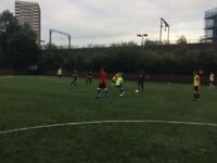 Friendly 7/8-a-side football in Mile End every Monday & Wednesday night.