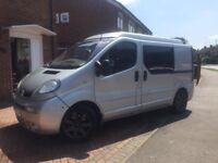 Vauxhall vivaro 1.9 sportive, silver, campervan with pop up roof, 2700 sport DTI SWB