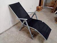 Home Malibu Metal Recliner Chair - Black No270704