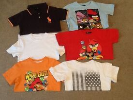 Lots of lovely boys items 17 in all age 5-6 yrs tee shirts,hoodies,trousers and many more items.