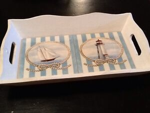 Sailboat/Lighthouse themed serving plate/decor
