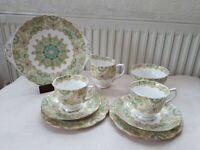 Royal Albert Paisley Shawl 829436 crown china tea set. 9 pieces.