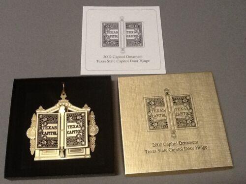 2002 Door Hinge -Texas State Capitol Ornament - Original Pamphlet & Original Box