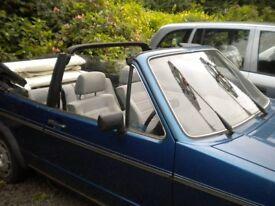 VW Golf Cabriolet 1600 petrol B reg MOT Nov 18- selling due to ill health