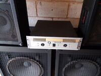 """Tannoy 18""""Ground Shaking Subs 800w and pair of 500w Tops plus Amp"""