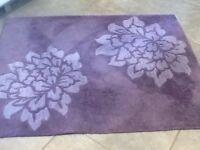 Beautiful purple rug