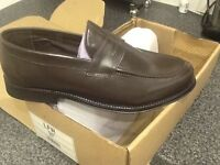 Men's brown leather shoes size 8 Half