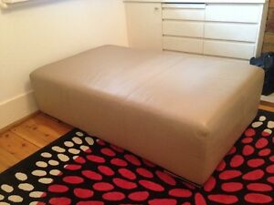 Leather ottoman Waverton North Sydney Area Preview