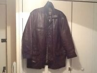 Quality brown leather coat