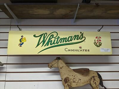 VINTAGE 1940's-50's WHITMAN'S CHOCOLATES DOUBLE SIDED CANDY ADVERTISING SIGN