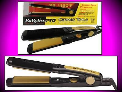 "NEW! BABYLISS PRO CERAMIC TOOLS 1 1/2"" STRAIGHTENER 25 SETTINGS FLAT IRON CT2558"