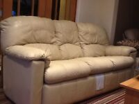 G PLAN cream leather settee