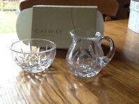 Galway crystal cream jug and sugar dish