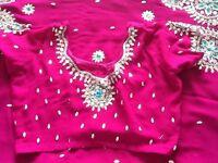 Pinky Purpley Sari For Sale
