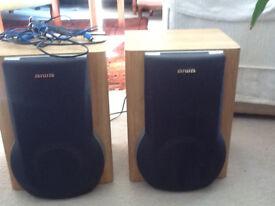 AIWA 6ohm Hi Fi speakers