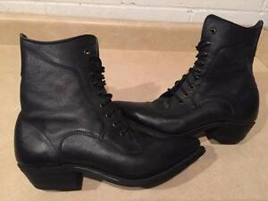 Women's Size 8.5 Silver Rebel Canada Leather Boots