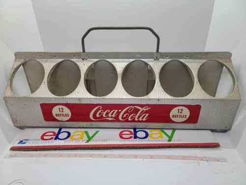 Vintage Aluminum COKE COCA COLA 12 Pack Bottle Carrier Tray Caddy 1950s Nice