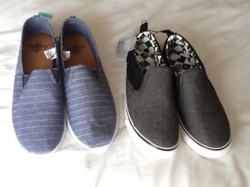 2 NEW & NOT WORN STILL TAG ON BOYS YOUTH SIZE 5 CASUAL CANVAS SHOES