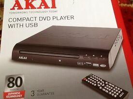 Akai dvd player brand new in box