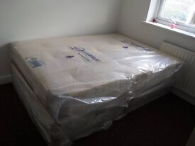DOUBLE ORTHOPAEDIC BED WITH MATTRESS BACK CARE