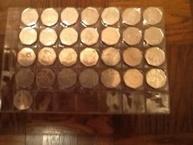 Olympic 50 pence coins 2012. FULL SET ALL 29 COINS.FROM CIRCULATION