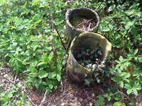Garden pots old furnace melting pots