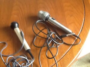 Microphones, one Cardioid Dynamic , Realistic, one Sony
