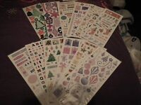 2 sheets of chipboard shapes & 10 sheets of stickers